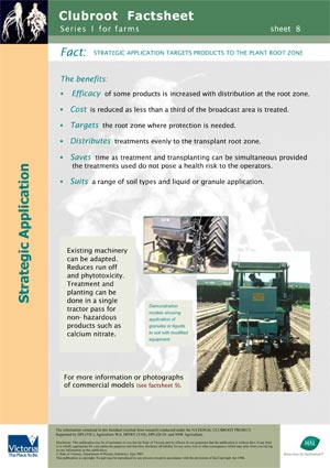 VG00044 Clubroot - Strategic application