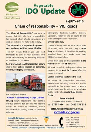 VIC ROADS - Chain of responsibility