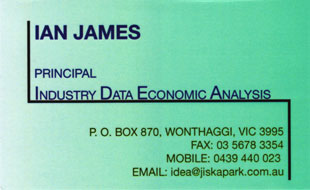 Ian James Industry Data Economic Analysis