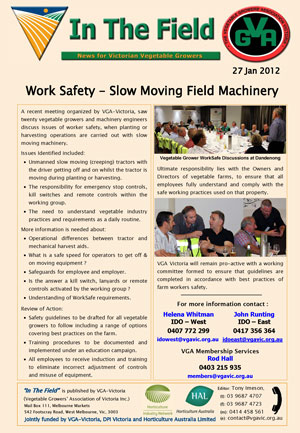 Work Safety with Slow Moving Machinery