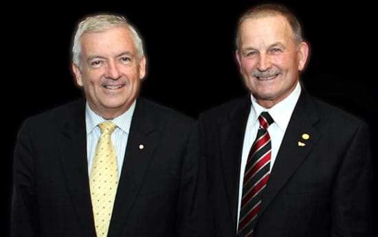 AUSVEG CEO Richard Mulcahy and Luis Gazzola
