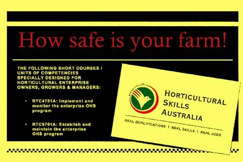 HortSkills Australia - Farm Safety Training