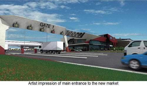 Artists Impression of new market entrance