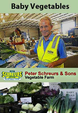 Peter Schreurs & Sons - baby vegetables