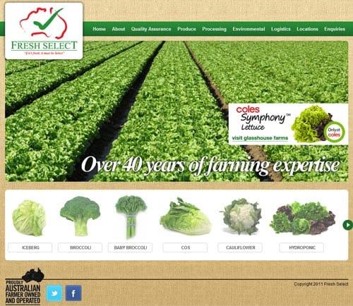 Fresh Select website