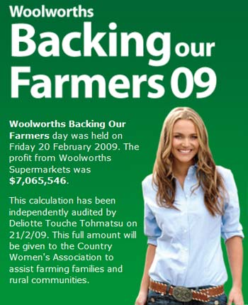 Woolworths backing our farmers