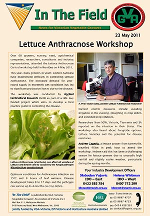 Lettuce Anthracnose Workshop