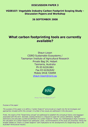 What carbon footprinting tools are currently available - September 2008
