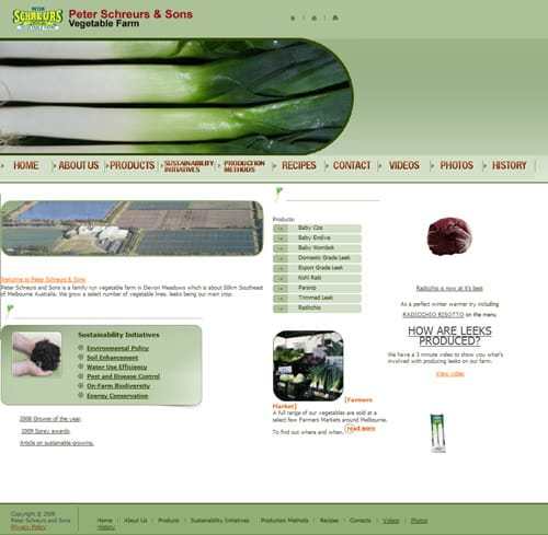 Peter Schreurs & Sons website